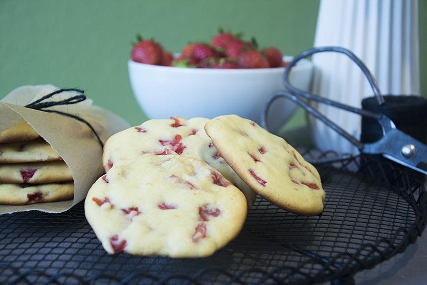 Ein Küchlein als Keks verkleidet… Strawberry-Cheesecake-Cookies