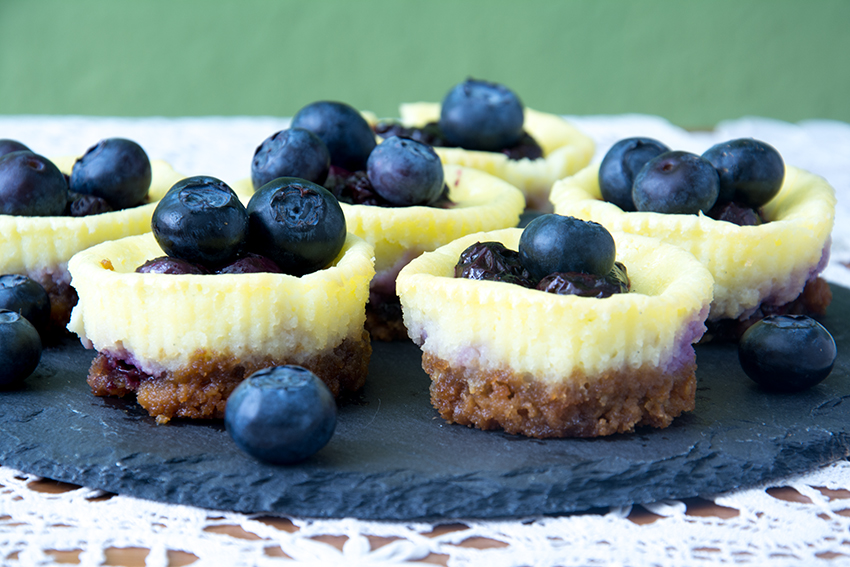 NYC Blogparade, Blog Hop, Unter dem Pflaumenbaum, LeckereKekse, Mini-Blueberry-Cheesecake