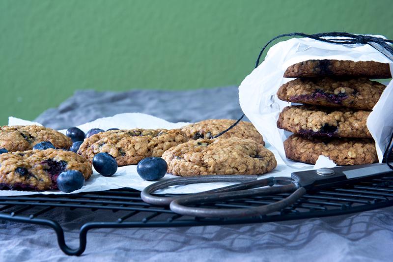 Unter dem Pflaumenbaum, Backblog, Blaubeer-Cookies, Blueberry Cookies