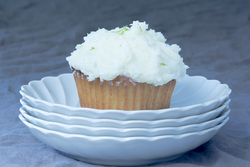 Unter dem Pflaumenbaum, Kokos-Cupcakes, weiße Schokolade, Limette, Backblog