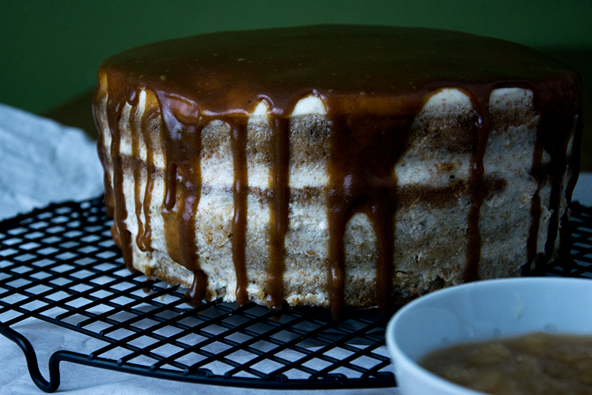 Unter dem Pflaumenbaum, Backblog, Cidre-Torte mit Mascarpone-Frosting