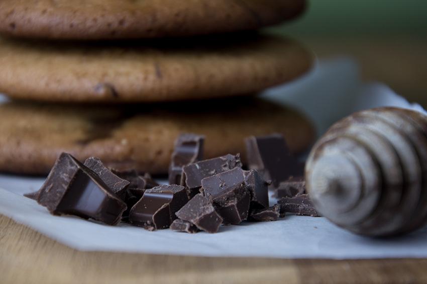 Unter dem Pflaumenbaum, Backblog, Honig-Ingwer-Cookies mit dunkler Schokolade