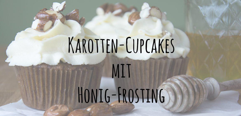 Karotten-Cupcakes mit Honig-Frosting