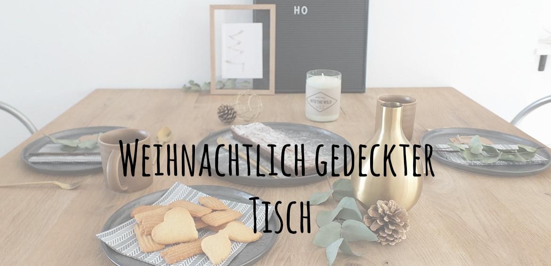 weihnachtlich gedeckter Tisch, Spritzgebäck, Gastbeitrag, Wohngoldstück, Unter dem Pflaumenbaum, Backblog