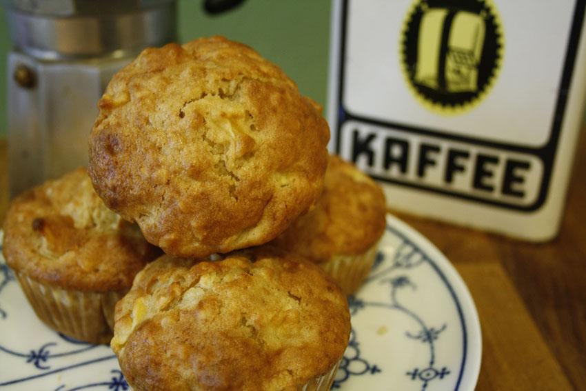 Apfel-Ahornsirup-Muffins
