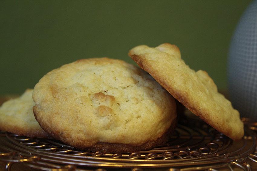 Knusper, knusper, lecker… Macadamia-Cookies mit weißer Schokolade