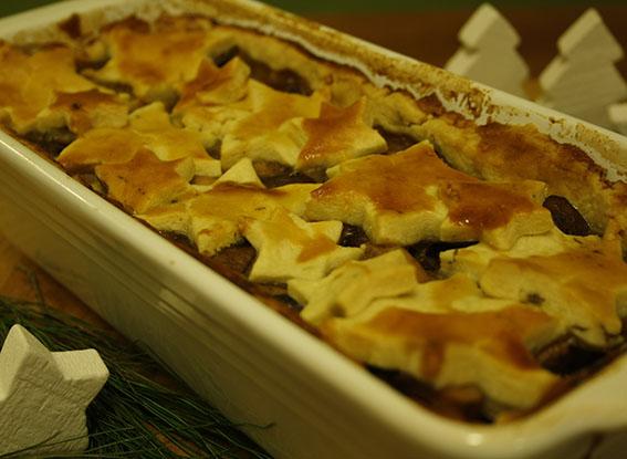 Willkommen zum »Salty Sunday«… Hühnchen-Pie mit Pilzen