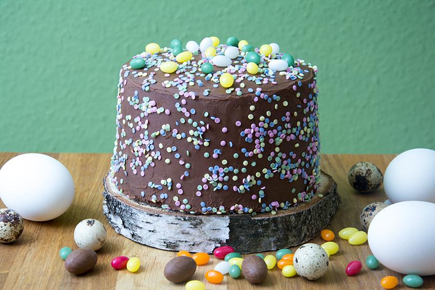 Große Schokoladen-Liebe… Buttermilch-Torte mit Lindor-Ganache