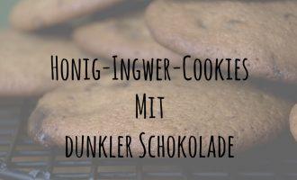 Honig-Ingwer-Cookies mit dunkler Schokolade